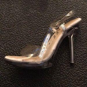 "NPC Competitor - Ellie 5"" Heel Clear Sandal"